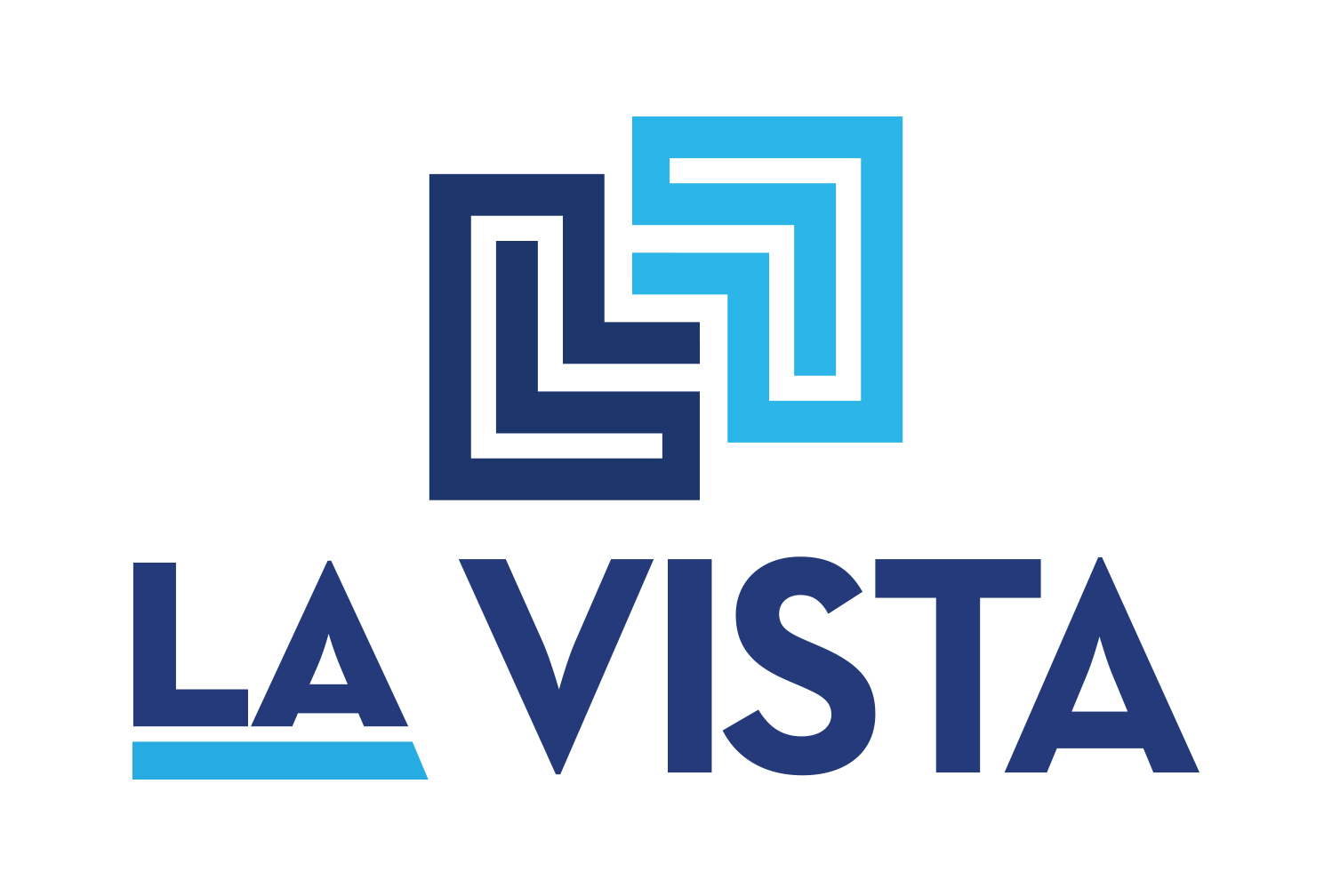 New La Vista Logo White